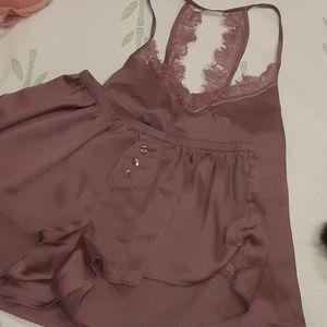 Lilac Sleepwear SET/ Silk+Lace (Bundle Deals!)